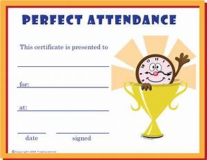 Perfect Attendance Certificate Template Free Perfect Attendance Certificates Certificate Free Perfect Attendance