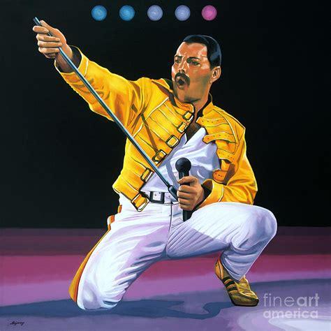 One Piece Wallpaper Iphone 5 Freddie Mercury Live Painting By Paul Meijering