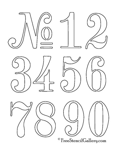 Free Numbers Templates by Numbers Stencil Pinteres