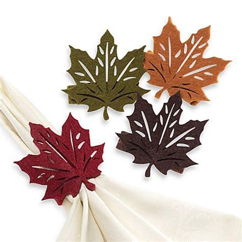 fall leaf napkin rings set   bed bath