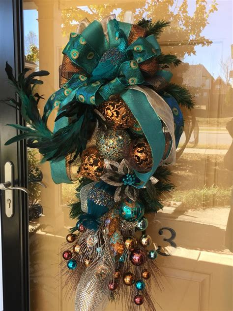 best 25 peacock christmas decorations ideas on pinterest