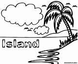 Island Coloring Coloringway Sheet Colorings Kaban sketch template