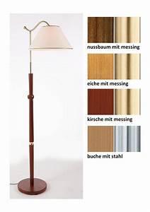 Stehlampe Mit Glasschirm : holz stehlampe 1flg in 4 farben inkl leuchtmittel laue online kaufen otto ~ Markanthonyermac.com Haus und Dekorationen