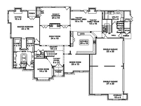 parliament luxury tudor home plan 087s 0119 house plans