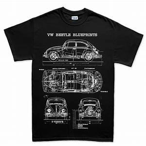 Vw T Shirts : vw beetle bug camper classic blueprint t shirt ebay ~ Jslefanu.com Haus und Dekorationen