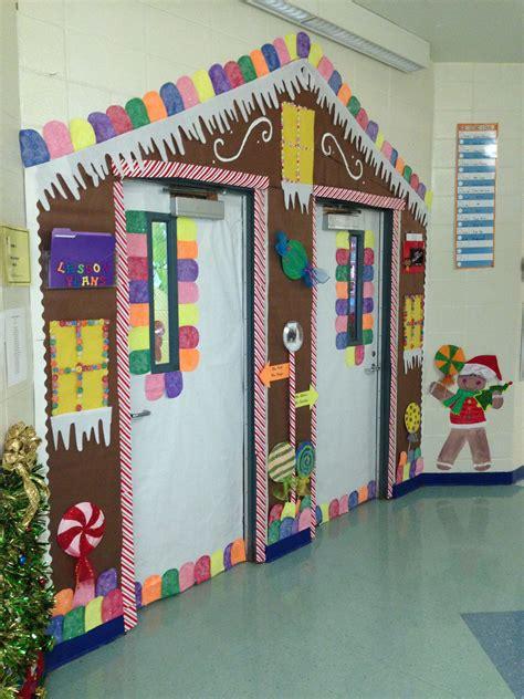 gingrbread house on school door gingerbread house door decoration classroom door decorations