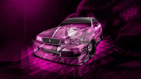 toyota chaser jzx jdm tuning  super anime girl