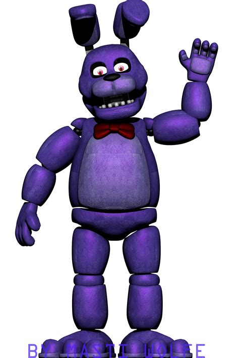 Bonnie Images Fnaf 1 Bonnie Model Front Vision By Mastiwolfe On Deviantart