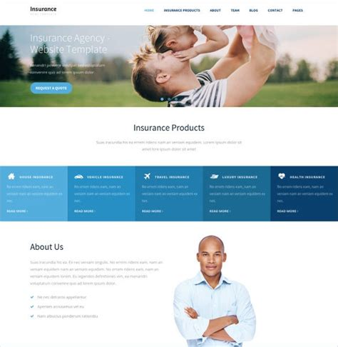 An organization cannot hope to grow and reach out to its target audience without the support of a. 26+ Insurance Website Themes & Templates   Free & Premium Templates