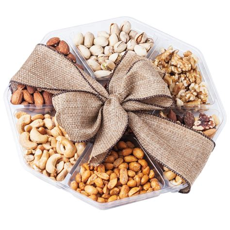 holiday gourmet food nuts gift basket 7 different nuts five star gift baskets nutty new yorker gourmet food nuts gift basket 6 different nuts and rice cracker
