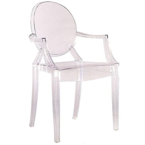 chaise stark philippe starck design louis ghost chair foohoo