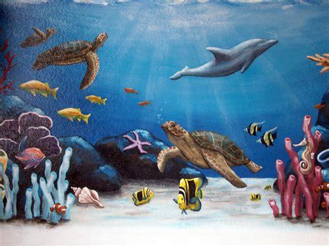 Ocean Murals 2017  Grasscloth Wallpaper
