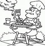 Coloring Pages Dad Bar Barbecuing Bbq Printable Drawing Digital Timtim Cooking Grill Stamps Drawings Summer Tt Cool Father Que Clip sketch template