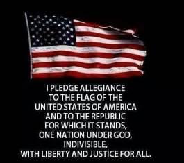 American Flag Pledge of Allegiance