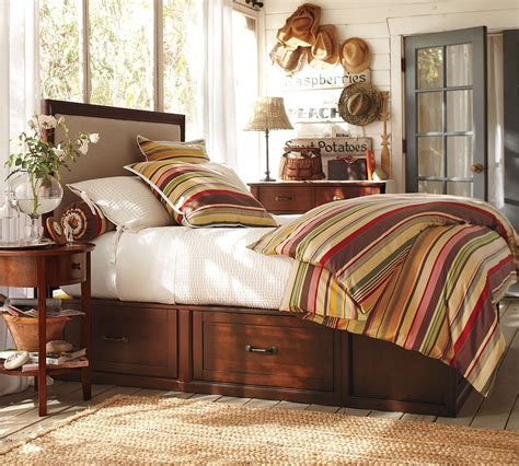 Pottery Barn Knockoff Kingsize Stratton Bed Rustic