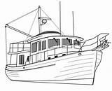 Yacht Luxury Trawler Coloring Printable Pages sketch template