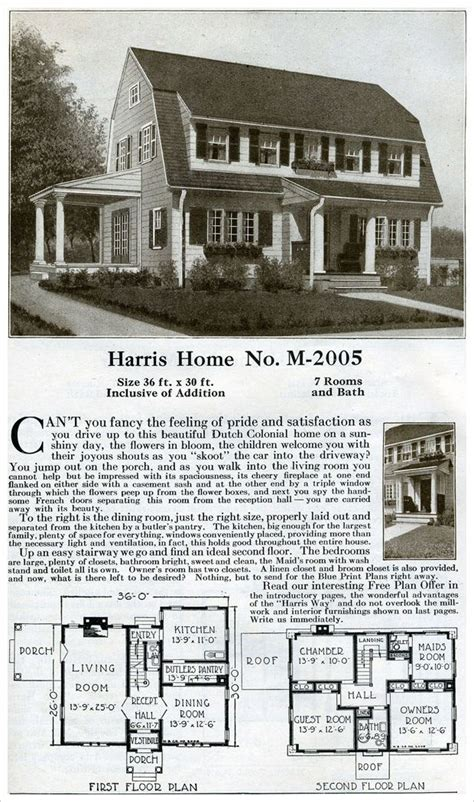 variant colonial revival style dutch colonial offered harris catalog