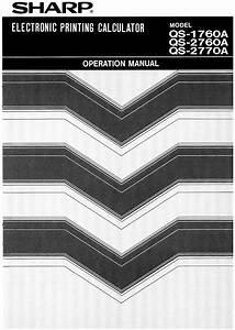 Compet Os- Qs-2760a Manuals