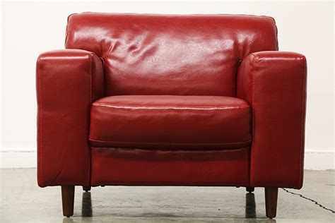 oversized burgundy leather club chair vintage supply store