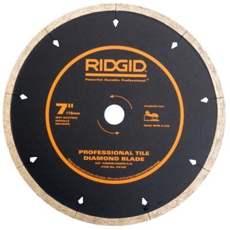 ridgid 7 in diamond edge tile circular saw blade cp70p