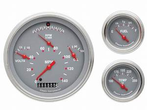 Classic Instruments 57 Chevy Car Package Gauge Panel Cluster Dash  Grey
