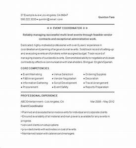 10 event planner resume templates doc pdf free With event planner resume