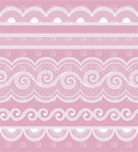 set  wite lace borders vector illustration  borders