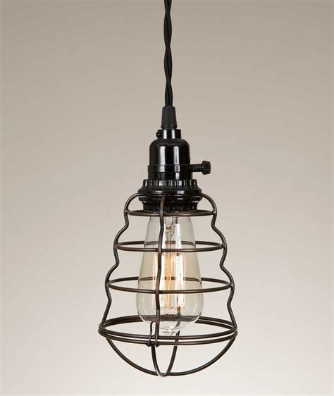 wire cage pendant l light lighting fixtures