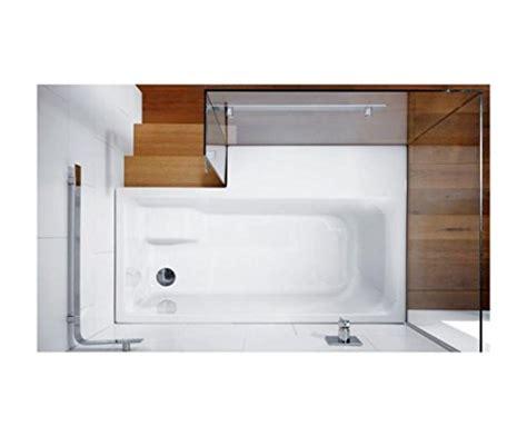 badewanne mit stufe repabad stairway dusch badewanne 170 ecke mit glaswand