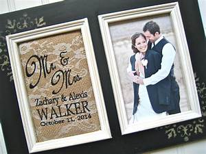 personalized wedding gift mr and mrs photo frame custom With mr and mrs wedding gifts