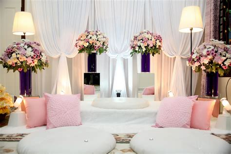 beautiful dais pelamin and bridal beds malay wedding