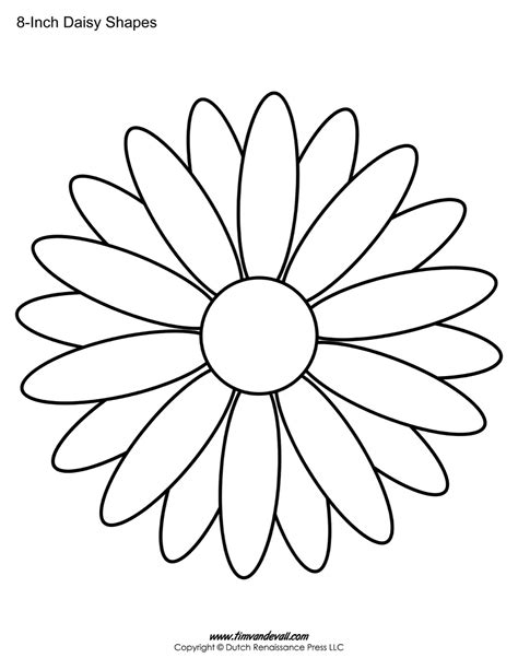 printable daisy templates daisy shape flower pdfs