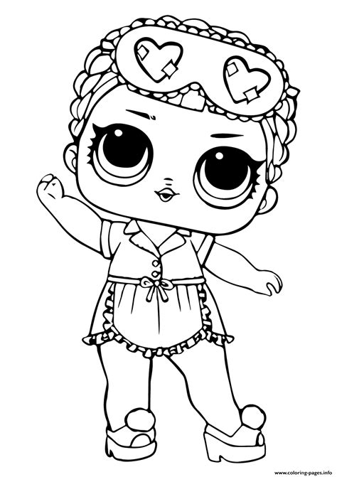 lol doll sleeping bb coloring pages printable