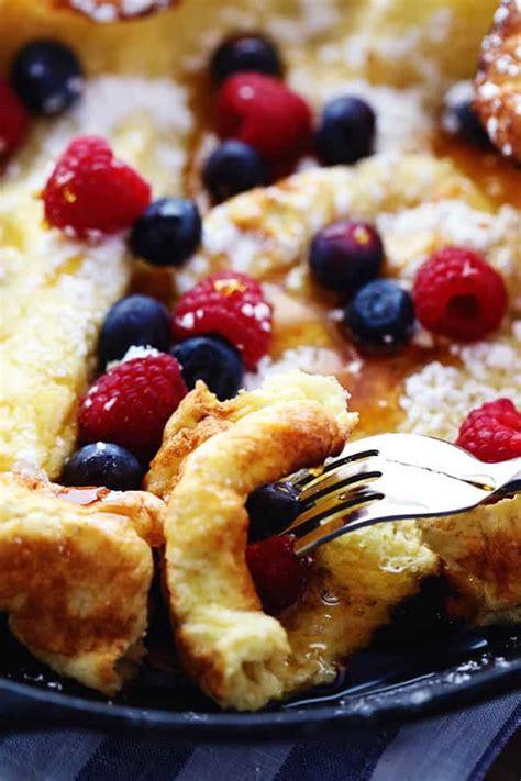 baked pancakes  fruit