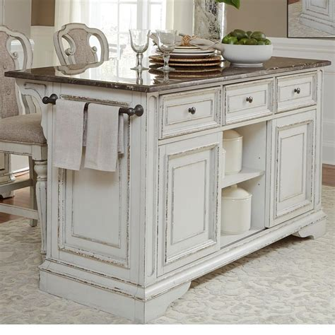granite countertop kitchen island liberty furniture magnolia manor dining kitchen island 3882