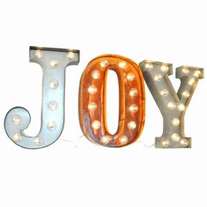 Uk joy illuminated carnival vintage word letter lights for Lighted letters joy