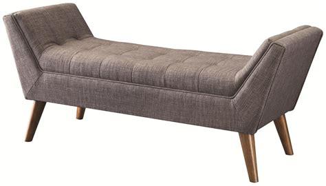 Coaster 500008 Grey Fabric Bench  Stealasofa Furniture
