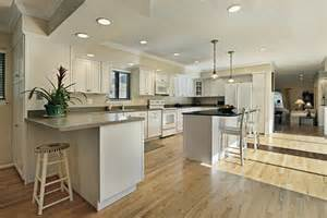 how to install a kitchen island can i install a wooden floor in my kitchen the wood floo