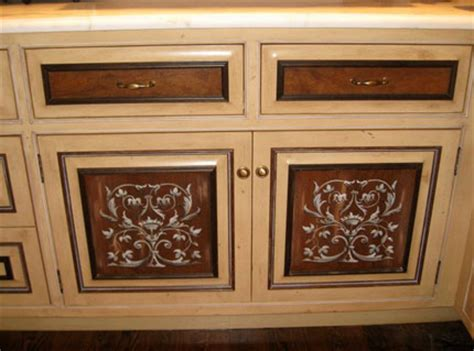 kitchen cabinet stencils customer gary lord uses modello designs paint 2784