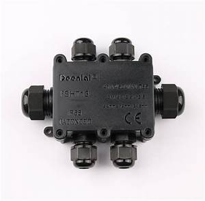 Ip68 Outdoor Connection Box 1 In 4 Out Waterproof Inline
