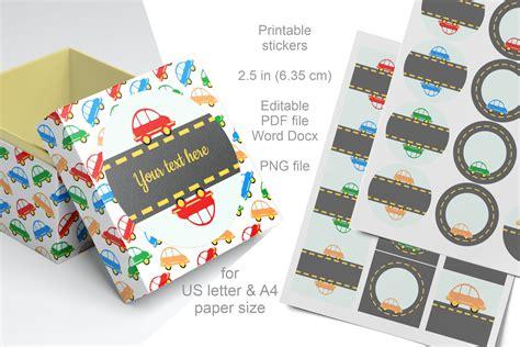 printable labels  cars      letter