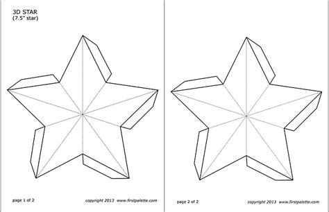 star templates  printable templates coloring