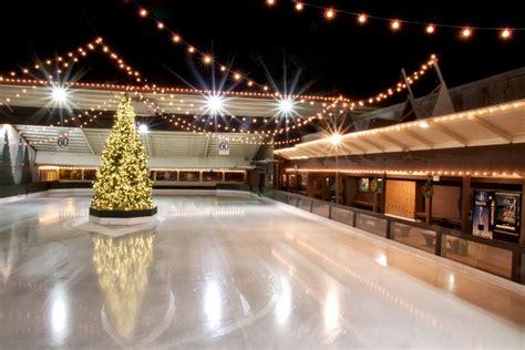 winter lodge ice skating rink