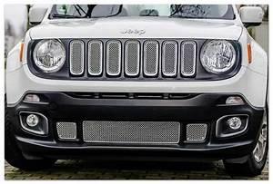 Accessoires Jeep Renegade : inserts inox grille de calandre jeep renegade ~ Mglfilm.com Idées de Décoration