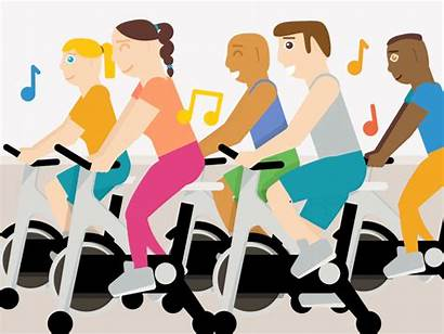 Spin Class Clipart Bike Clip Cliparts Different