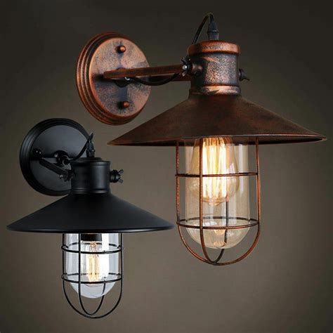 industrial nautical outdoor wall light retro loft rustic