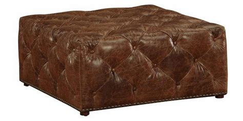 large square tufted ottoman large square leather tufted ottoman club furniture