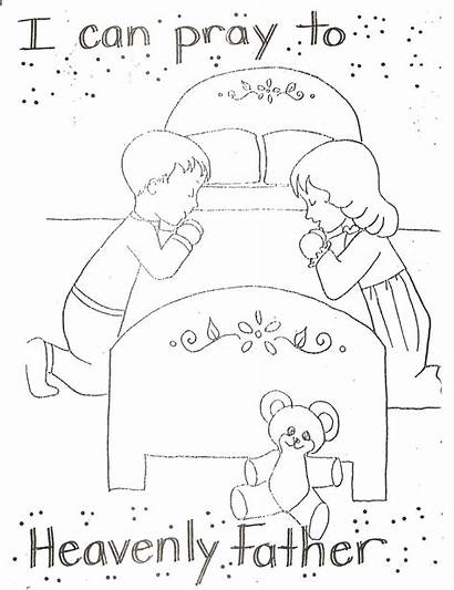 Pray Father Heavenly Nursery Lds Coloring Pages