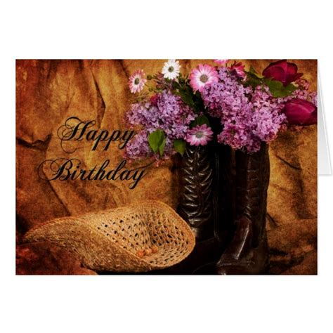 country birthday cards birthday country western style girls card zazzle