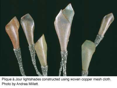 copper mesh plique  jour ganoksin jewelry making community